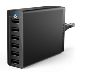 Anker USB Wall Charger, 60W 6 Port USB Charging Station
