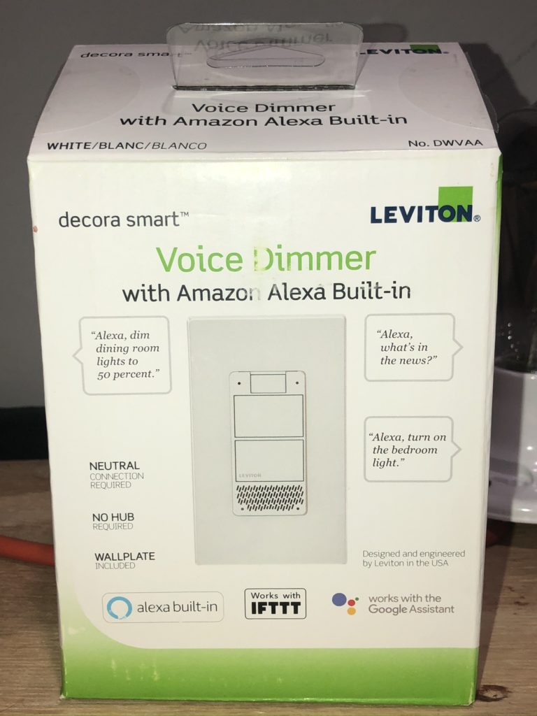Leviton DWVAA-1BW Decora Smart Wi-Fi Voice Dimmer with Amazon Alexa Built-in